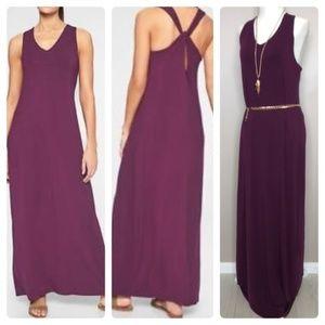 ATHLETA Getaway Maxi Dress NWT Wild Berry Medium